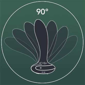The 90 degree flexible Butt Plug - PleX with flex