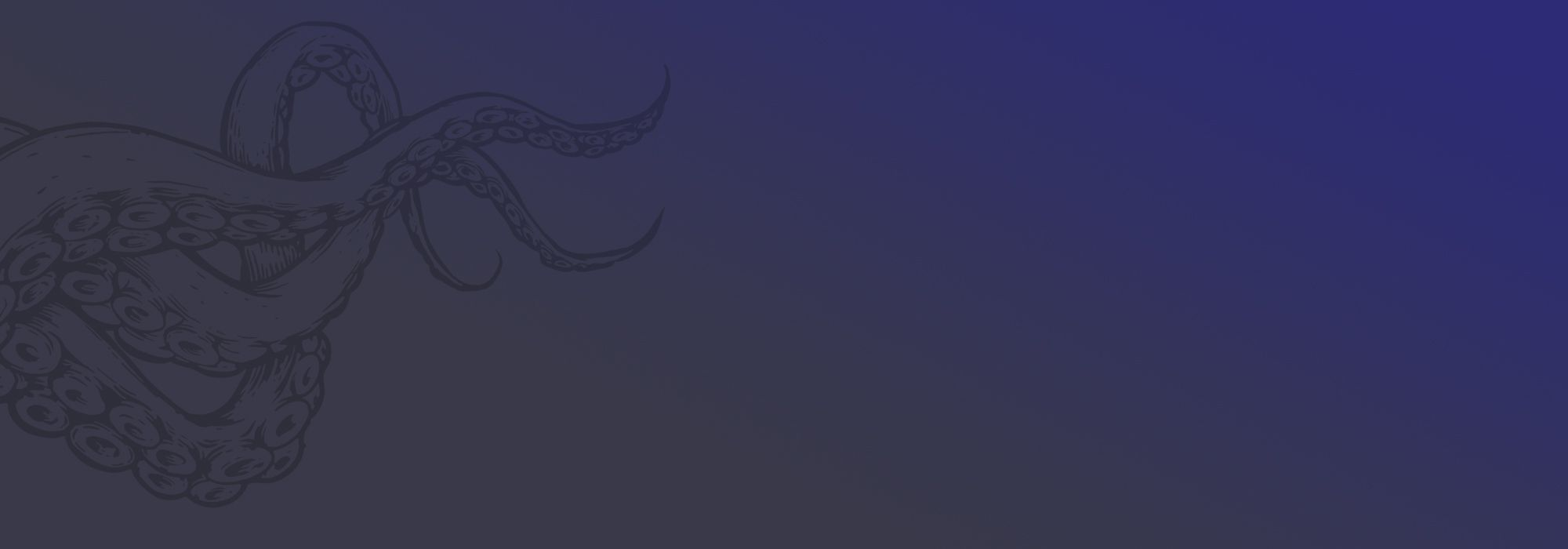 Hot Octopuss Tentacle Background - grey to blue
