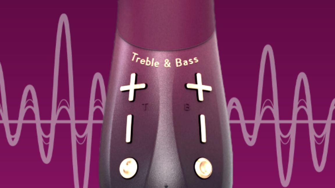 image of treble and bass controls on kurve g-spot vibrator