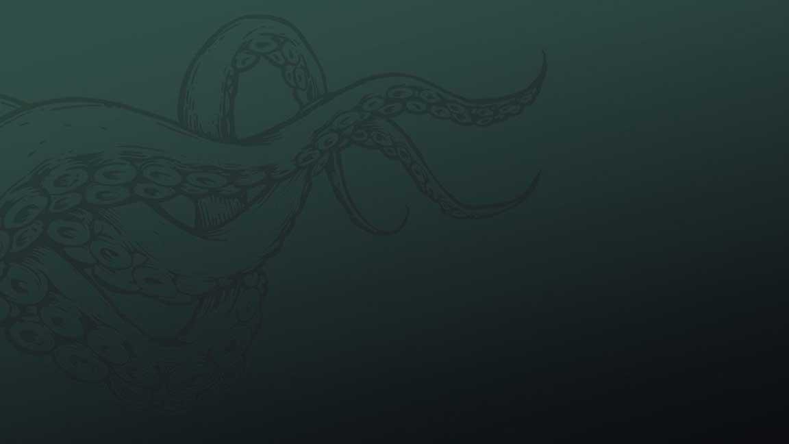 Green octopus background