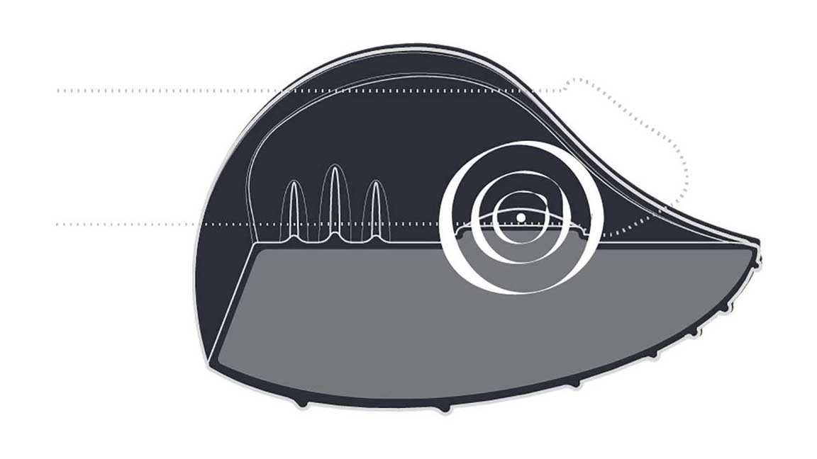 PULSE side on image showing where the vibrations resonate from