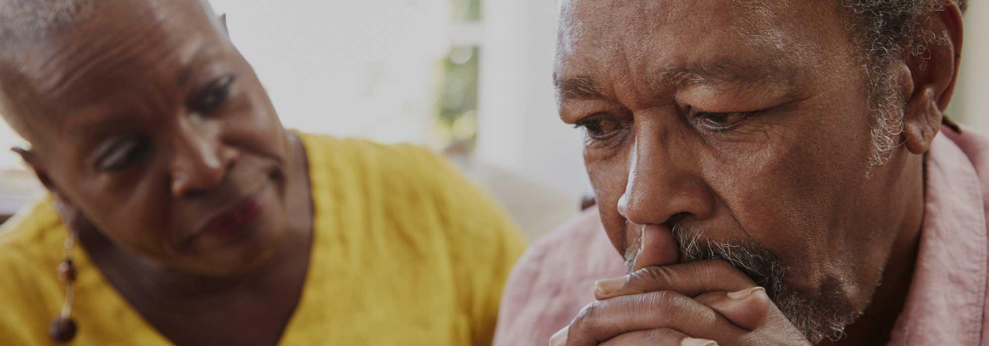 Senior black couple Worried - Senior Sex