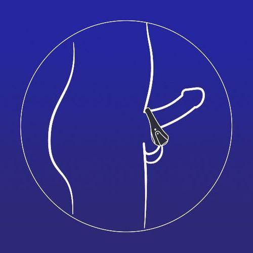 ATOM Cock Ring Vibrating top panel