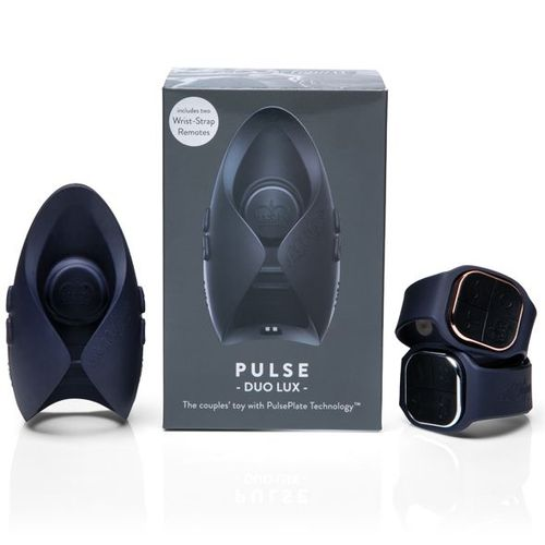 The PULSE DUO LUX both with the male and female watch remote controls and the product box