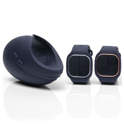 The Pulse Duo Couple Sex Toy with the His and Her Watch Remotes that control the Couples sex toy and tease each others sensations