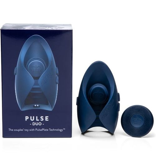 PULSE DUO with button remote and box on white background
